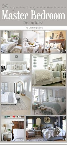 New home? or Feeling like you need to revamp your bedroom??? These 20 Master Bedroom Decor Ideas will give you all the inspiration you need!!! Come and check them out!!! Popular Pins!
