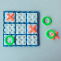 Tic Tac Toe perler beads by perlerbeads_art