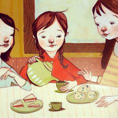Sneak peek! First of many illustrations for a small book project.