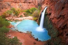 Водопад Хавасу, штат Аризона, США.