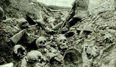 A trench on the WW1 battlefield of Verdun. These fights went on for so long, without any movement in the front lines, that soldiers were literally fighting on top of the decomposing corpses of comrades who died there before.