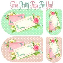 Pretty Floral and Polka Dot Tags - Free Pretty Things For You Printable Tags, Printable Paper, Free Printables, Card Tags, Gift Tags, Dandelion Designs, Baby Clip Art, Paper Crafts, Diy Crafts