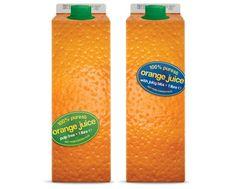 Les fonctions: Technique: le volume du jus de fruit est d'1L qui représente le grain de peau d'une orange. Communication / Décort: La couleur du packaging est très recherchée pour se rapprocher au plus de la couleur d'une Orange. On note que les designers ont reproduit les pores de la peau de l'orange pour rendre le produit plus réel