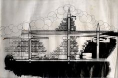 Plug-In City Study - Archigram Archival Project Architectural Association, Westminster, Plugs, Study, Future, Architecture, City, Projects, Paper