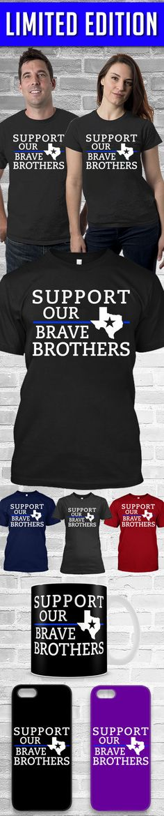 Support Our Brave Brothers Shirts! Click The Image To Buy It Now or Tag Someone You Want To Buy This For.  #police