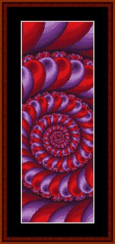 Click to view FREE Fractal counted cross stitch bookmark pattern!