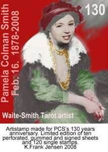 Pamela Colman Smith. Known for tarot illustrations, she was also a writer and illustrator of childrens books