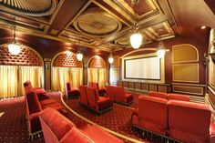 Bill Murray's personal home theater room - featured in Zombieland