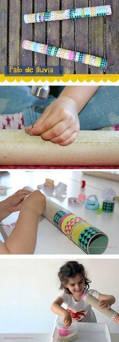 #palodelluvia #rainstick #diy #creakids #manualidades Music For Kids, Art For Kids, Rain Sticks, Kids Workshop, Homemade Instruments, Diy Step By Step, Easy Crafts For Kids, School Fun, Handmade Toys