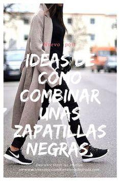 best website 6d5fa a5951 Ideas de cómo combinar unas zapatillas negras (adidas, nike, converse,.