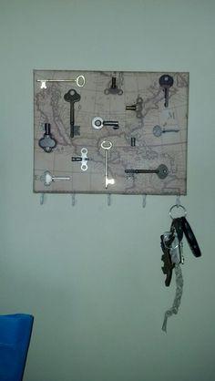 Key rack with skeleton keys. #keys