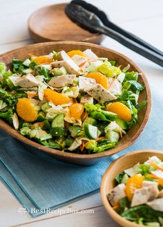 Chopped Asian Chicken Salad Recipe with a great dressing recipe that you can use for any salad @bestrecipebox