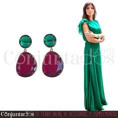 Pendientes Zoe verde y fresa ★ 13'95 € en https://www.conjuntados.com/es/pendientes-de-fiesta-zoe-en-verde-y-fucsia.html ★ #novedades #pendientes #earrings #conjuntados #conjuntada #joyitas #lowcost #jewelry #bisutería #bijoux #accesorios #complementos #moda #eventos #bodas #invitadaperfecta #perfectguest #party #fashion #fashionadicct #picoftheday #outfit #estilo #style #GustosParaTodas #ParaTodosLosGustos