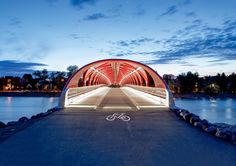 Architecture for Bikes: From Calgary's space-age Peace bridge to Eindhoven's floating roundabout and the Copenhagen apartments with a cycle path straight up to the 10th floor, Gavin Blyth's Velo City highlights some of the world's best cycling infrastructure