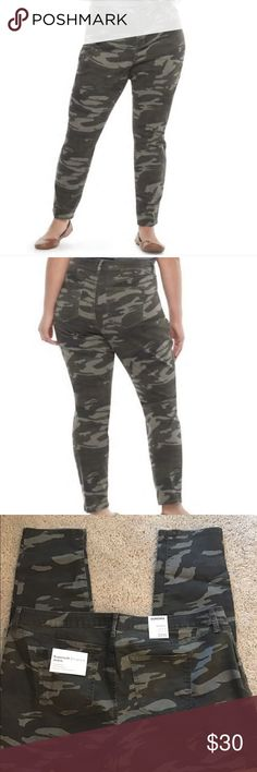201fb2c06fd Plus-size Camo Jeans These jeans are NWT. Size 22W. Skinny mid-