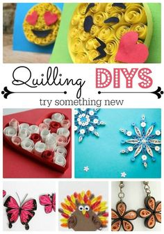 Be the first to check out these great easy quilling projects - perfect for beginners and intermediaries. There some wonderful quilling projects for kids, as well as grown ups. LOVE. Give quilling a go?