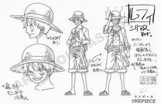 Rufy (モンキー・D・ ルフィ \\ One Piece \\ manga \\ post-timeskip Character Reference Sheet, Character Sheet, Drawing Reference, Character Design, One Piece Luffy, One Piece Anime, Naruto Oc Characters, One Piece Chapter, One Piece Drawing