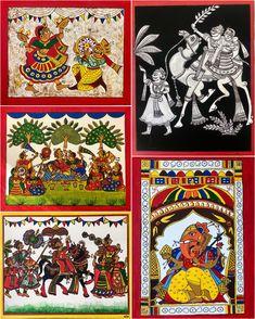 Art by rocking students Colorbook Phad Painting, Ganesha Drawing, Kerala Mural Painting, Indian Folk Art, Student Work, Artist Art, Print Patterns, Workshop, Drawings