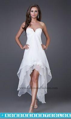 144 Black Prom Dresses – High-Low Prom Dress by La Femme 15033 at www.promdressbycolor.com