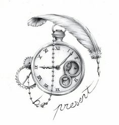 Living in the present tattoo !