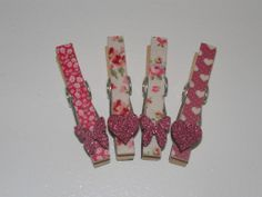 Set of 4 Magnetic Pegs in Pink Multi Perfect for clipping important notes or your littleuns latest art piece to the fridge! IN STOCK AND READY TO POST