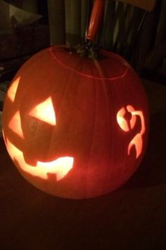 A pumpkin with cochlear implants...need to remember for next Halloween!
