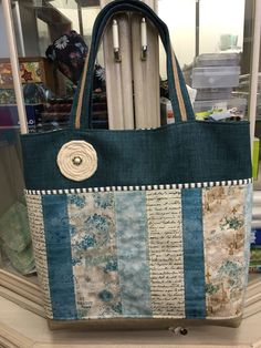 Use Strips Of Liberty London For The Base Note Ticking Fabric Accent Fabricbag Makingfabric
