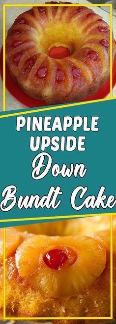 Pineapple Upside Down Bundt Cake #dessert #copycatrecipe #easyrecipes #dessertrecipes #desserttable #appetizer