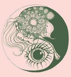 Amazing Yin and Yang eye print