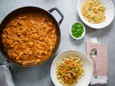 Get Chicken Paprikash Recipe from Food Network molly yeh Turkey Recipes, Chicken Recipes, Dinner Recipes, One Pot Meals, Main Meals, Food Network Recipes, Cooking Recipes, Cooking Courses, Cooking Network