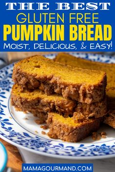 The best gluten free pumpkin bread recipe is ultra moist with a streusel topping. Cream cheese mixed in adds moisture without weighing if down, making a light, fluffy crumb instead of dense and heavy. Recipe includes a simple adaptation for a gluten free, dairy free recipe. #glutenfreepumpkinbread #easy #best #recipe #moist #dairyfree