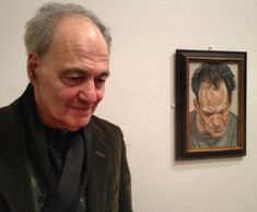 Frank Auerbach, British Expressionist painter, born in Berlin in shown with his portrait by his great companion, Lucian Freud. Lucian Freud Portraits, Invention Of Photography, Frank Auerbach, Spencer, Artists And Models, English Artists, David Hockney, Life Drawing, Figure Painting