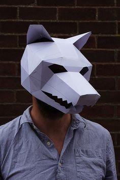 Máscara de lobo por Wintercroft en Etsy