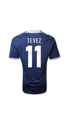 Discount Thailand Quality 2012/2013 Argentina TEVEZ 11 Away argentina messi jersey,wholesale Soccer jersey,kids soccer team,buy soccer jersey 12 13 soccerworldmall.com