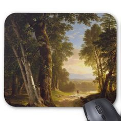 #wood - #The Beeches Mouse Pad