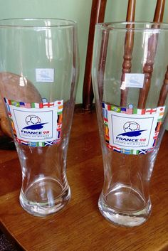 France 98 FIFA World Cup pair of Beer Glasses   | eBay