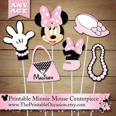 ►CLICK HERE for PINK POLKA DOT MINNIE MOUSE INVITES & CARDS: