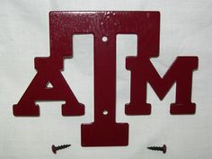 Texas A Aggie Metal Cut Out Plaque Logo Sign by trulytexas, $5.95