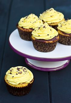 banana and chocolate cakes with creamy banana frosting