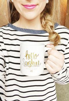Hello Sunshine @chalkfulloflove : this would be a cute idea for a mug!