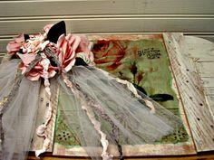 Wedding Card Basket  Prop Basket  Tote  Roses by EdenCoveTreasures