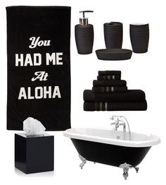 """""""black"""" by keishanewman on Polyvore featuring interior, interiors, interior design, home, home decor, interior decorating and Jonathan Adler"""