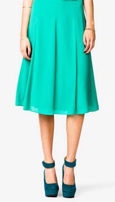 Aqua skirt #F21