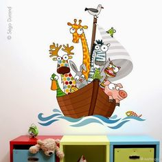 YO NO FUI ! - Cuadros infantiles - : Nuevos Kids Bedroom Paint, Indian Art Paintings, Animal Statues, Animal Crafts, French Artists, Decoration, Nursery Decor, Playroom, Wall Decals