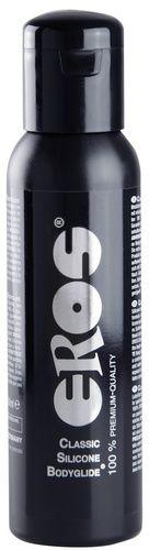 Eros Classic silicone bodyglide - 250 ml fra Eros - Sexlegetøj leveret for blot 29 kr. - 4ushop.dk - Eros Classic Silicone Bodyglide - 100 % premium quality - en klassiker og kendt variant når det kommer til silikone baseret glidecreme. Creme er dermatologisk testet, meget drøj, klæber ikke, uden konserveringsmidler, smagsneutral og uden farve samt olie- og parfumefri.