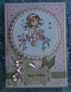 Sweet Blossom digi stamp from Wee Stamps coloured with Copic pens
