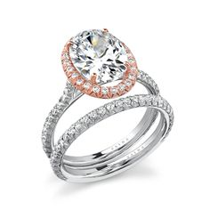 Varna Engagement Ring. I love everything about this! Especially the rose gold!