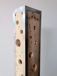 Design lamp made of recycled pallet wood