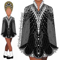Irish Costumes, Fancy Costumes, Rainbow Dance, Dress Sketches, Irish Dance, Dance Dresses, Designer Dresses, Instagram Design, Dress Designs