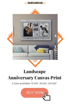 "Show your lover just how much you care! This year, make your celebration a little more special with our ""We Still Do"" anniversary canvas print. Add two photos, your names, and your anniversary date and you'll get a fantastic gift for couples and would look great as home decor. #anniversaryphoto #anniversaryphotos #anniversary #canvasprint #365canvas #weddinganniversary"
